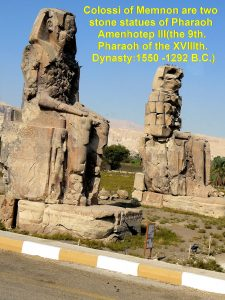Colossi of Memnon: Two statues of Amenhotep III