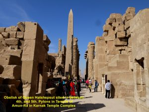 Obelisk of Queen Hatshepsut sited in between the 4th. and 5th. Pylons
