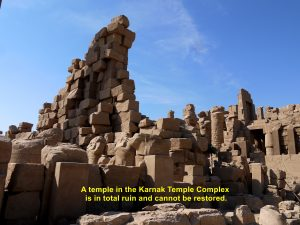 A ruined temple in the compound of Karnak Temple Complex that cannot be restored.