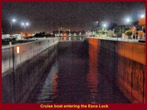 Cruise boat entering the Esna Lock