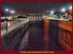 Cruise boat entering the Esna Lock