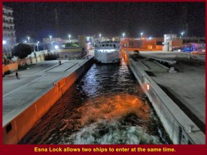 Esna Lock allows two cruise boats to enter at a time.