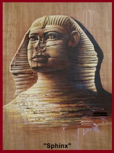 """Painting of a mythical creature, """"Sphinx"""""""