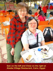 Gan(L) and Chew(R) at A;lezba Village Restaurant, Cairo