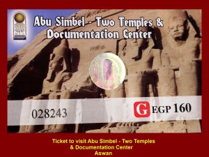 Ticket for visiting Abu Simbel Temples