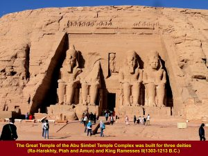 The Great Temple was built for three deities and King Ramesses II.