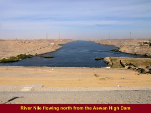 River Nile in the north of the Aswan High Dam