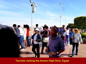Visitors at the Aswan High Dam, Egypt