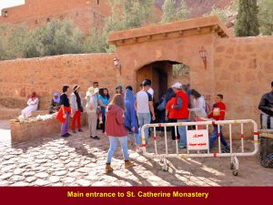 Main entrance of St. Catherine's Monastery