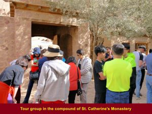 Tour group in the compound of St. Catherine's Monastery