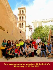 Group photo at St. Catherine's Monastery taken on 20 Dec 2017