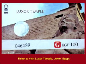 Ticket to visit the Luxor Temple,Luxor