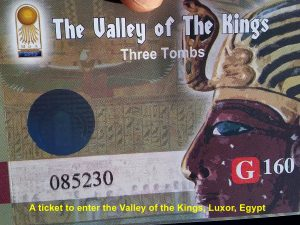 Tickets needed for entering the Valley of the Kings