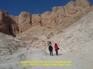 Path to Merenptah's Tomb in the Valley of the Kings