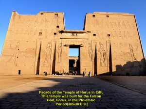 Facade of the Temple of Horus, Edfu, Egypt