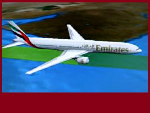 Tour group flying home by Emirates plane at Cairo, Egypt, at 7.05 p.m. 0n 23 Dec 2017