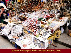 Souvenirs for sale at Khan el Khalil Bazaar, Cairo