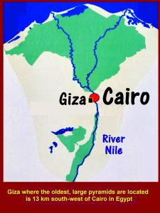 Map showing the location of Giza in Egypt