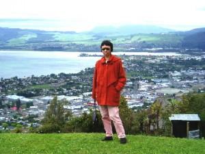 Rotorua Town by Lake Rotorua