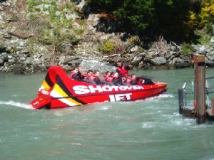 A Shotover Jet boat ride
