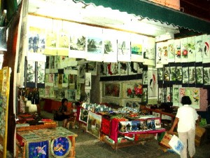 A Chinese painting shop in West Street, Yangshuo