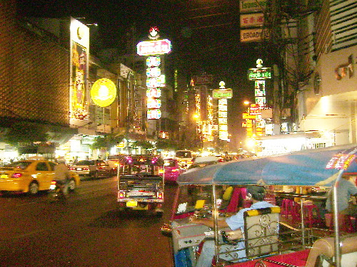 Chinatown at night, Bangkok
