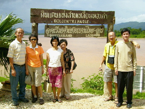 Writer and his tour members at the Golden Triangle