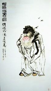 A Chinese painting by a Macau artist, Gao Lijie (Gao Yin)