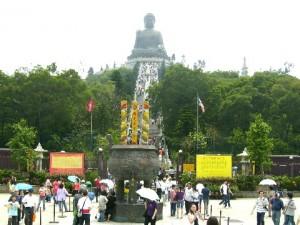 Tian Tan Garden and Tian Tan Buddha on a small hill