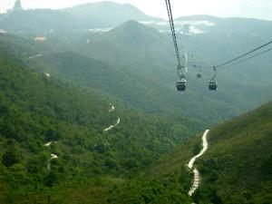 Lush green terrains of Lantau Island