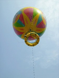 Skyfair Ride: A large balloon that brings up 30 passengers