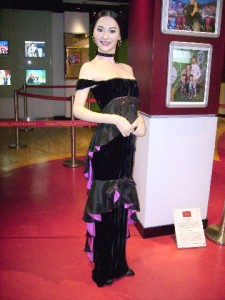 A life-sized wax figure of Maggie Cheung (a Hong Kong actress) at Madame Tussauds, Peak Tower