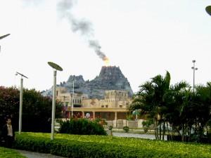 A man-made volcano at Macau Fisherman's Wharf