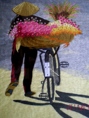 An embroidery piece of art sold for USD25