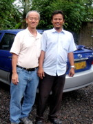 Writer and his driver-cum-tour guide, Nyoman