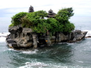 A temple on a rock, Tanah Lot