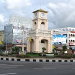 A Phuket Town clock tower