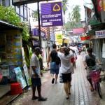 A busy, narrow Phi Phi village street