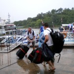 Tourists boarding boats for Phi Phi Island