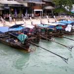 Taxi-boats in the Ton Sai Bay