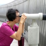 A Large Pair of Binoculars on the 91st. floor of Taipei 101
