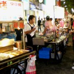 Hawkers at the night market