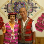 Writer and wife dressed like Taiwanese aborigines