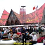 A long queue outside Malaysia Pavilion