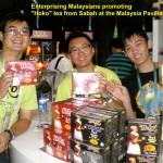 """Enterprising Malaysians promoting """"Hoko"""" Sabah tea at Malaysia Pavilion"""