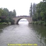 A moon bridge at West Lake