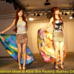 A fashion show at Kaidi Silk Factory, Suzhou