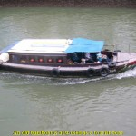 A present bumboat for tourists