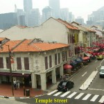 Restored shophouses in Temple Street