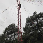 Climbing up a sword-ladder